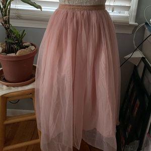 Gymboree XL blush/rose gold tulle skirt NWT